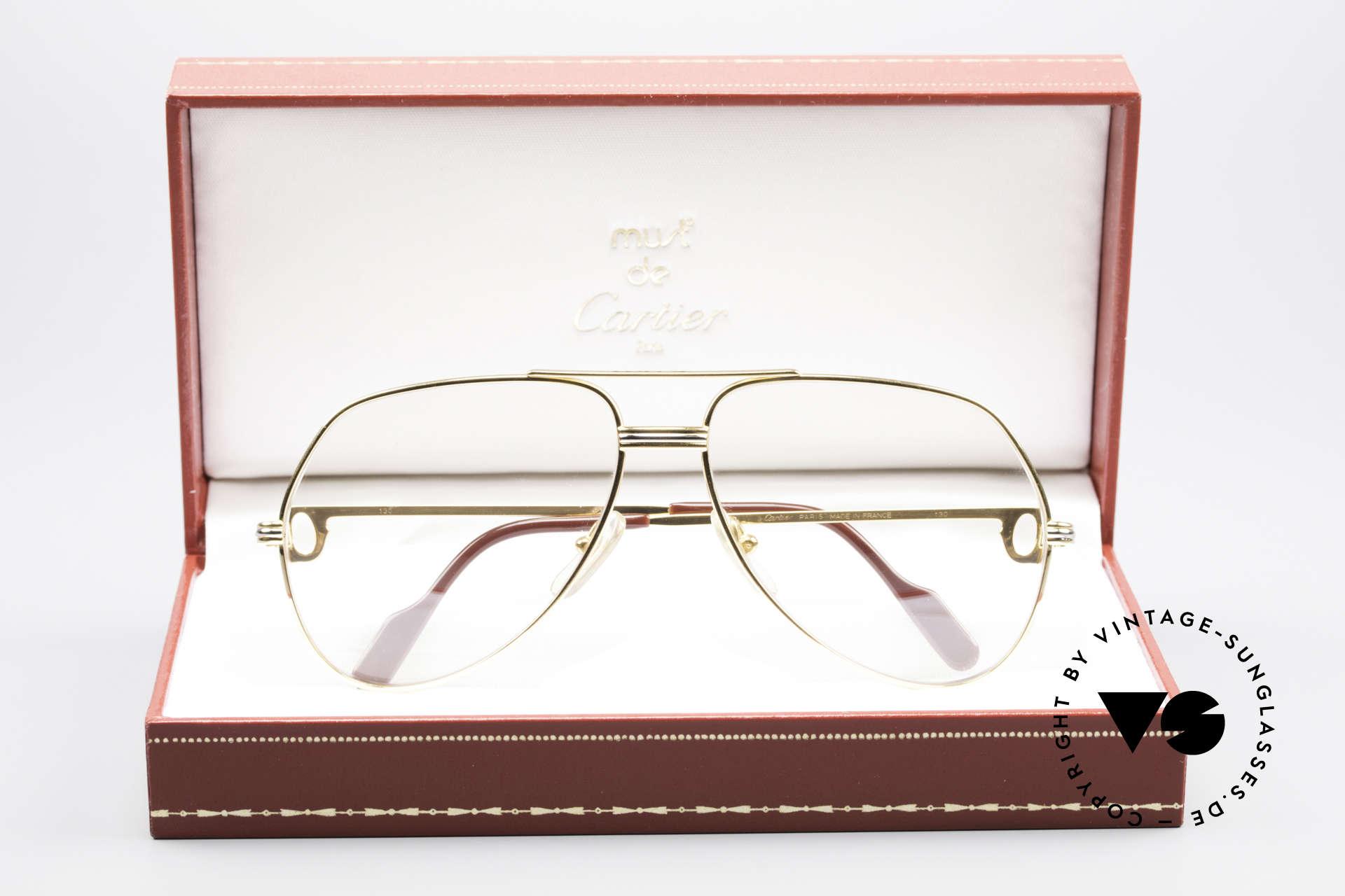 Cartier Vendome LC - M Hauchzeichen Cartier Gläser, original Gläser (Cartier Logo erscheint nach anhauchen), Passend für Herren und Damen