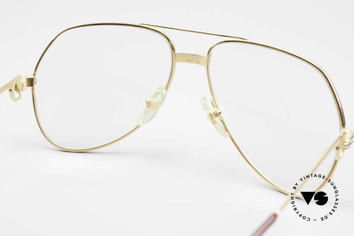 Cartier Vendome LC - M Hauchzeichen Cartier Gläser, teure Mineralgläser verdunkeln bei Sonne automatisch!, Passend für Herren und Damen