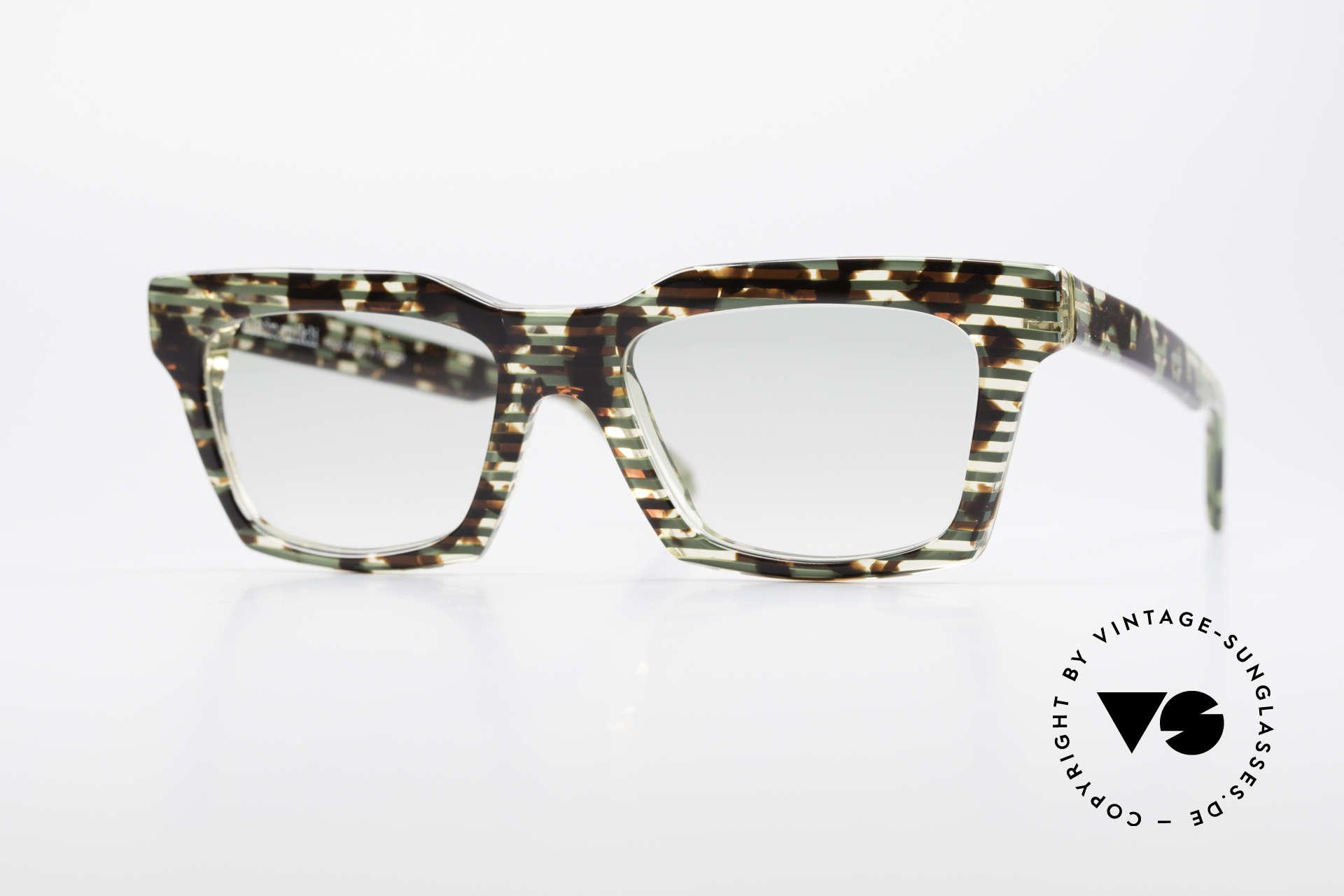 Alain Mikli 710 / 825 Außergewöhnliche Fassung, ALAIN MIKLI vintage Designer-Sonnenbrille von 1986, Passend für Herren und Damen