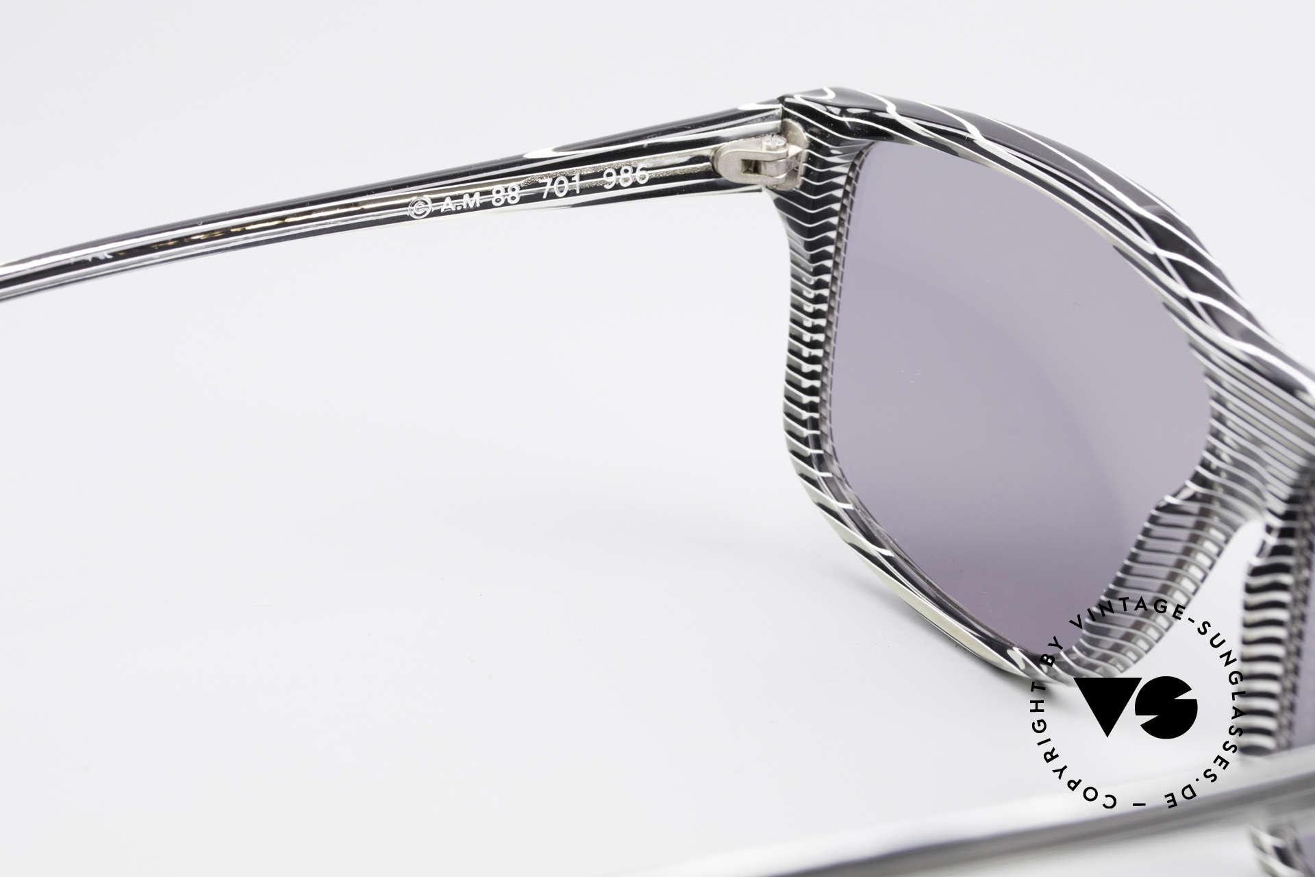 Alain Mikli 701 / 986 Rare Designer Sonnenbrille, die Sonnengläser können durch optische ersetzt werden, Passend für Damen