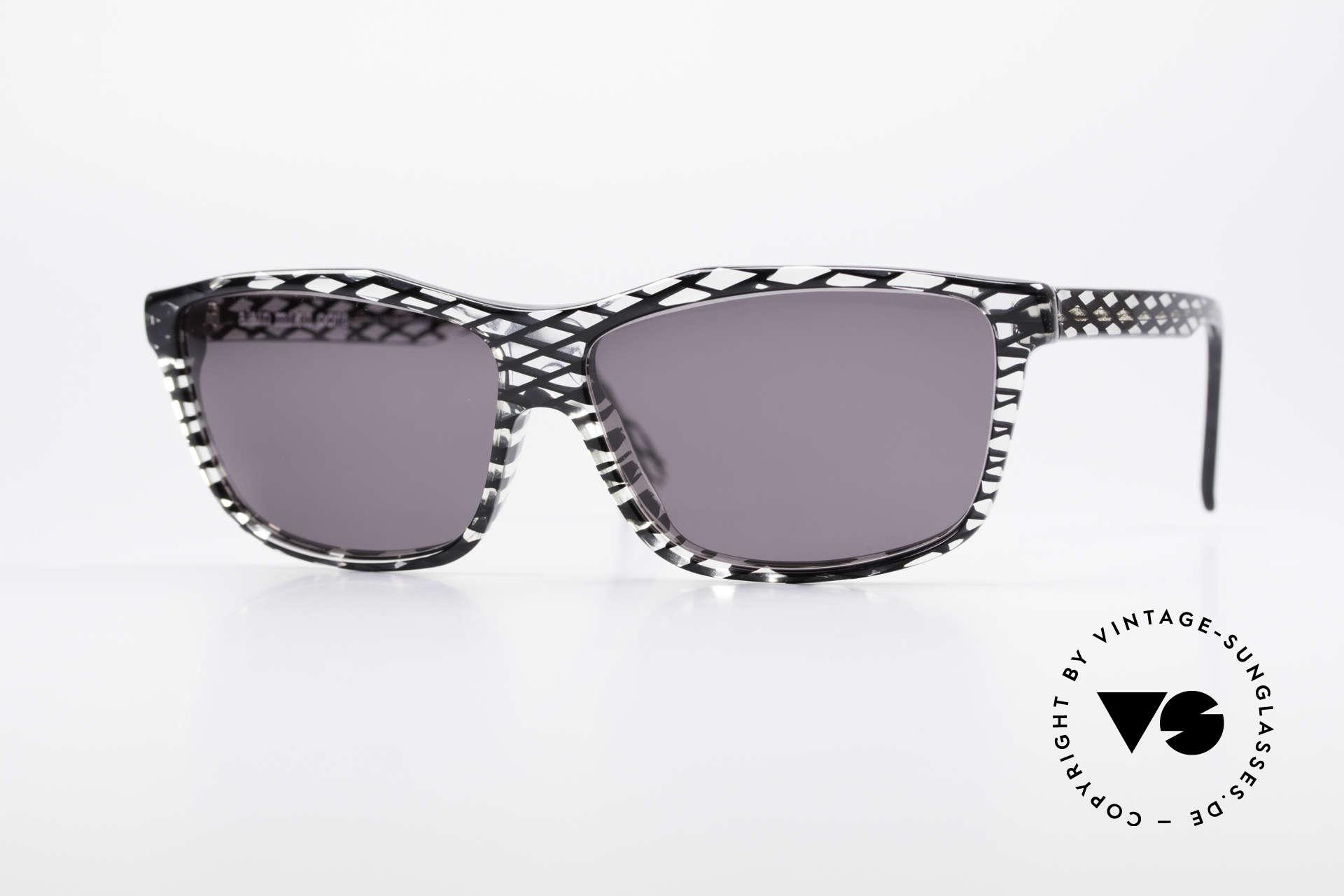 Alain Mikli 701 / 280 Gemusterte 80er Sonnenbrille, ALAIN MIKLI vintage Designer-Sonnenbrille von 1989, Passend für Damen