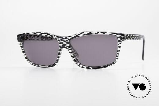 Alain Mikli 701 / 280 Gemusterte 80er Sonnenbrille Details