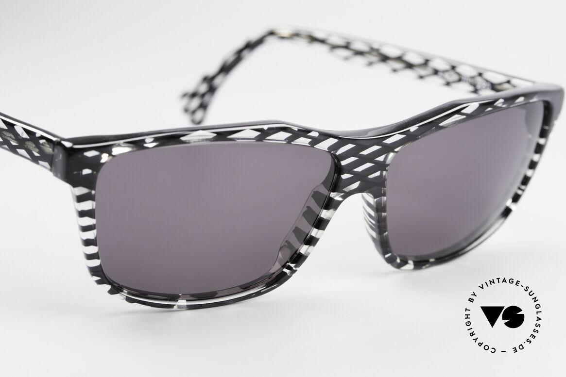 Alain Mikli 701 / 280 Gemusterte 80er Sonnenbrille, KEINE Retromode, sondern ein altes MIKLI-ORIGINAL, Passend für Damen