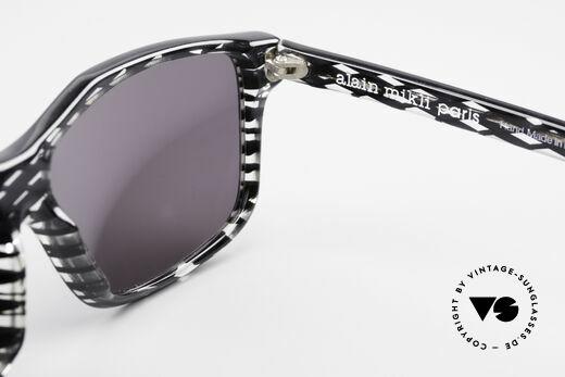 Alain Mikli 701 / 280 Gemusterte 80er Sonnenbrille, die Sonnengläser können durch optische ersetzt werden, Passend für Damen