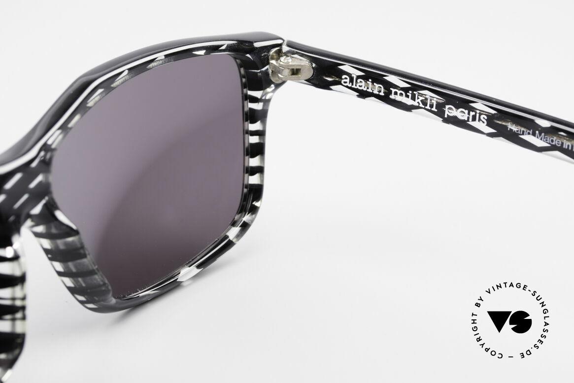 Alain Mikli 701 / 280 Gemusterte 80er Sonnenbrille