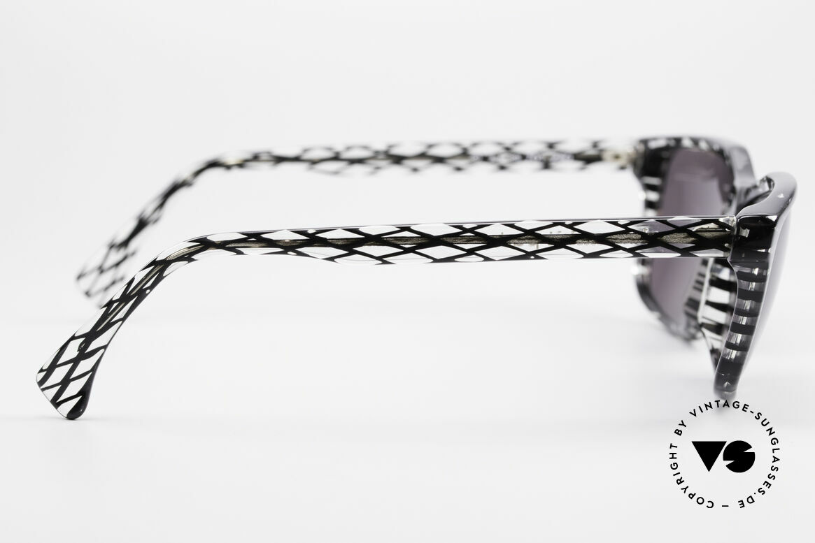 Alain Mikli 701 / 280 Gemusterte 80er Sonnenbrille, Größe: medium, Passend für Damen