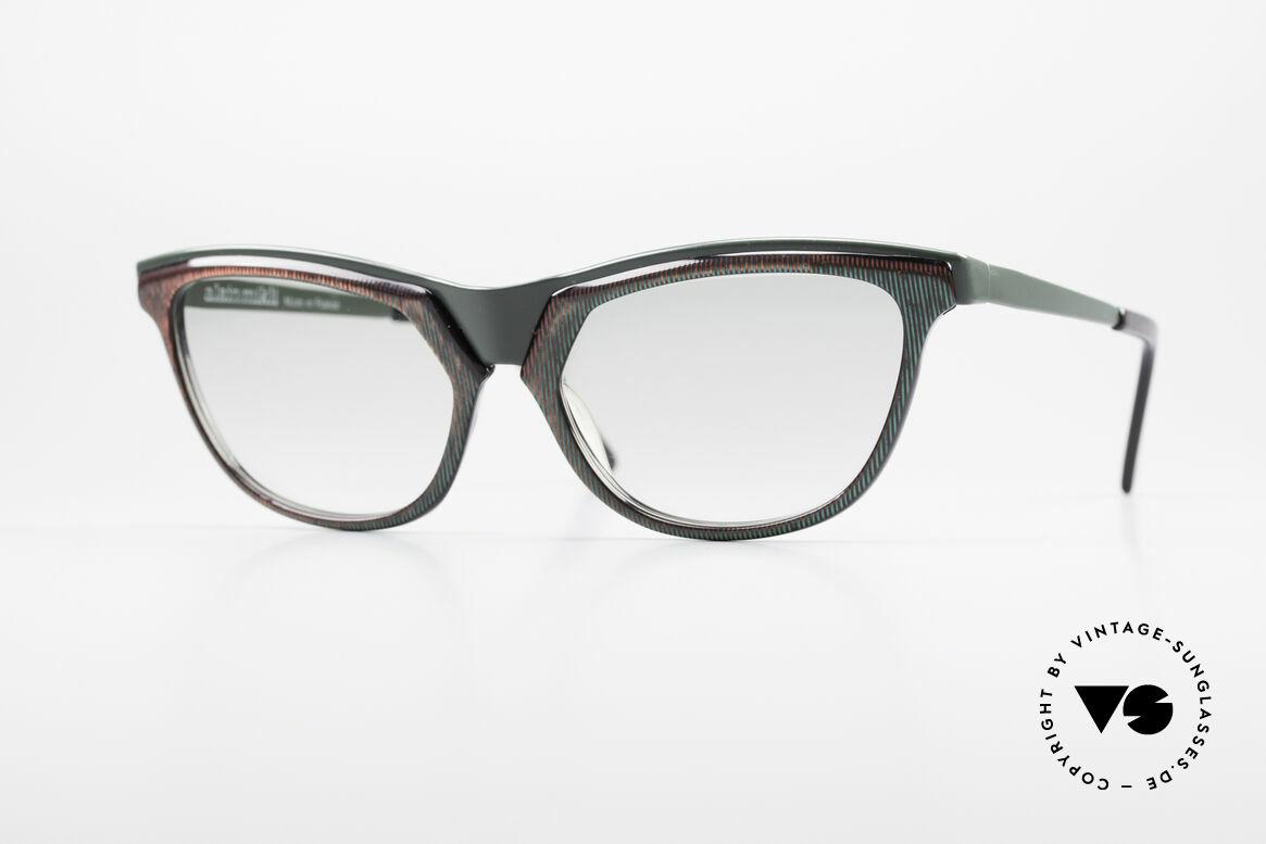 Alain Mikli 624 / 836 Hologramm Effekt Brille, 80er Jahre Sonnenbrille aus der Modestadt Paris, Passend für Damen