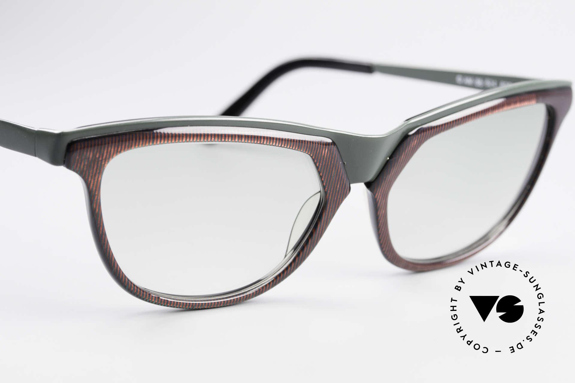 Alain Mikli 624 / 836 Hologramm Effekt Brille, zudem leicht grün-getönte Gläser; originell schön, Passend für Damen