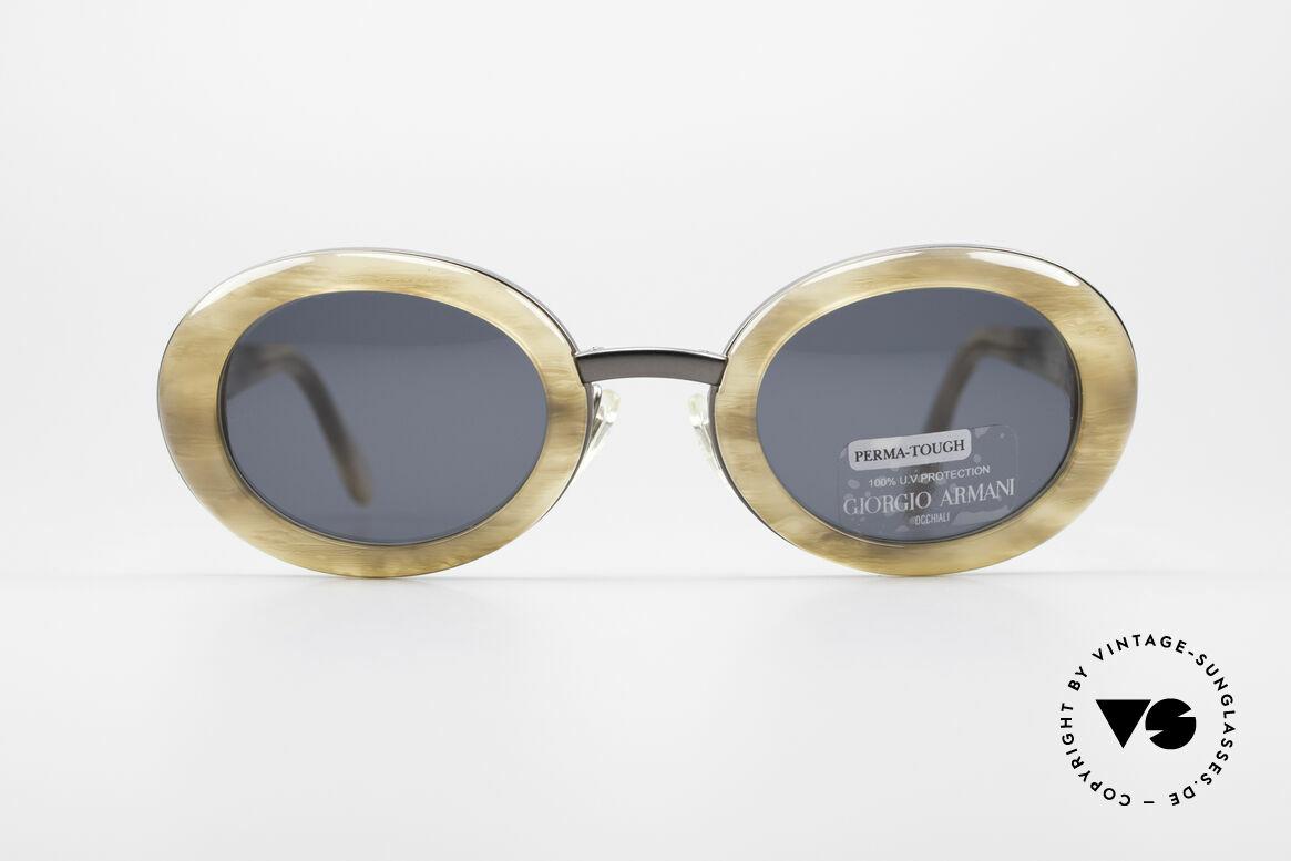 Giorgio Armani 945 Designer Sonnenbrille Damen, tolle Kombination von Farben, Mustern und Materialien, Passend für Damen