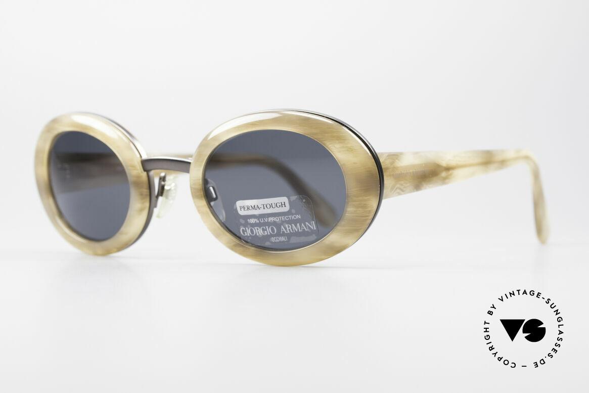 Giorgio Armani 945 Designer Sonnenbrille Damen, ein wirklich interessantes Modell im Jackie Onassis Stil, Passend für Damen