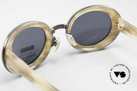 Giorgio Armani 945 Designer Sonnenbrille Damen, hochwertige GA-Gravur Sonnengläser (100% UV Schutz), Passend für Damen