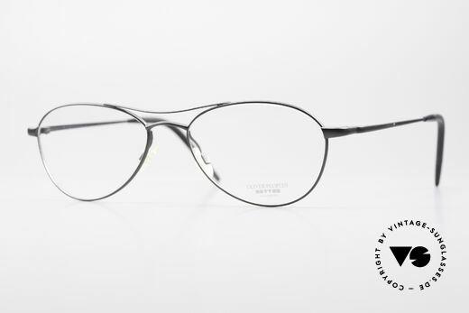 Oliver Peoples Aero Ungewöhnliche Aviator Brille Details
