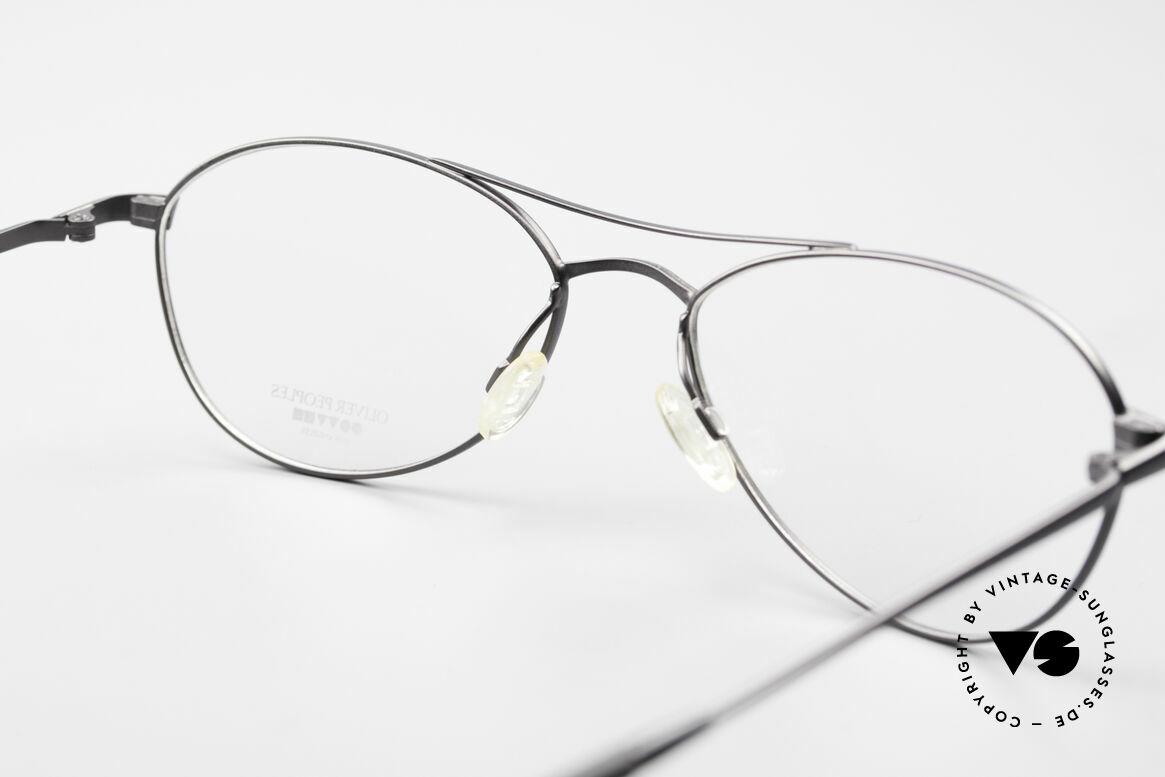 Oliver Peoples Aero Ungewöhnliche Aviator Brille