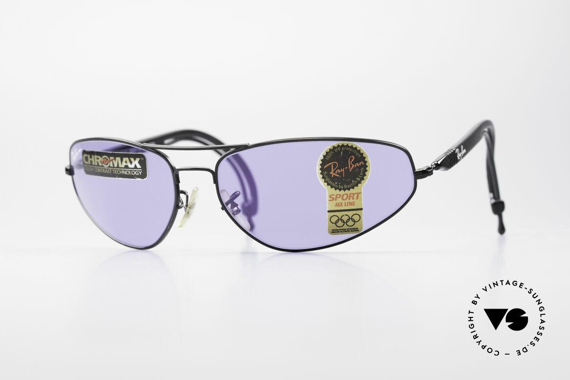 Ray Ban Sport Series 3 ACE Chromax B&L Gläser, RAY-BAN Sport Series 3: vintage 90er Sportbrille, Passend für Herren