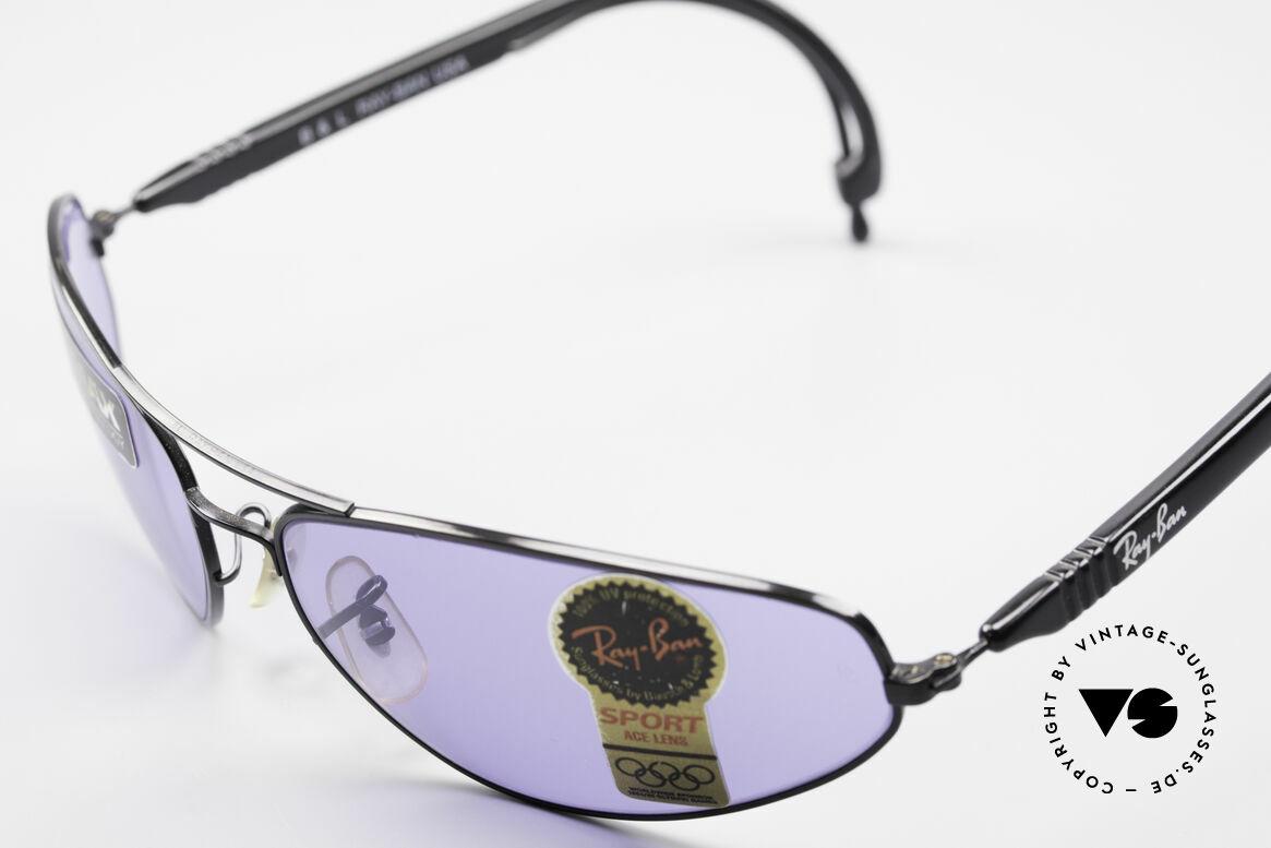Ray Ban Sport Series 3 ACE Chromax B&L Gläser, ungetragen (wie alle unsere vintage Sportbrillen), Passend für Herren