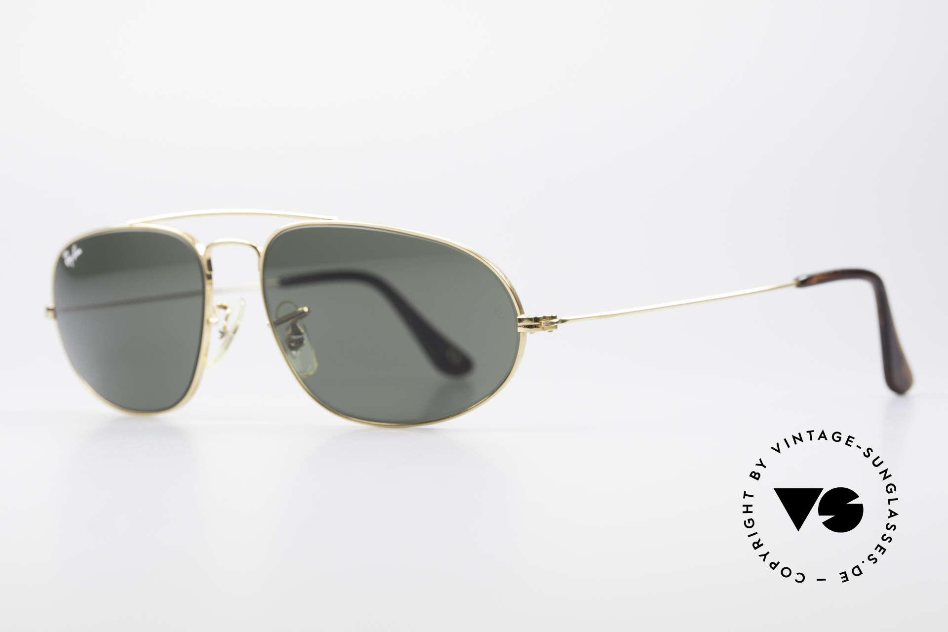 Ray Ban Fashion Metal 5 Sonnenbrille Aviator Style, hochwertige Bausch&Lomb Mineralgläser (B&L), Passend für Herren