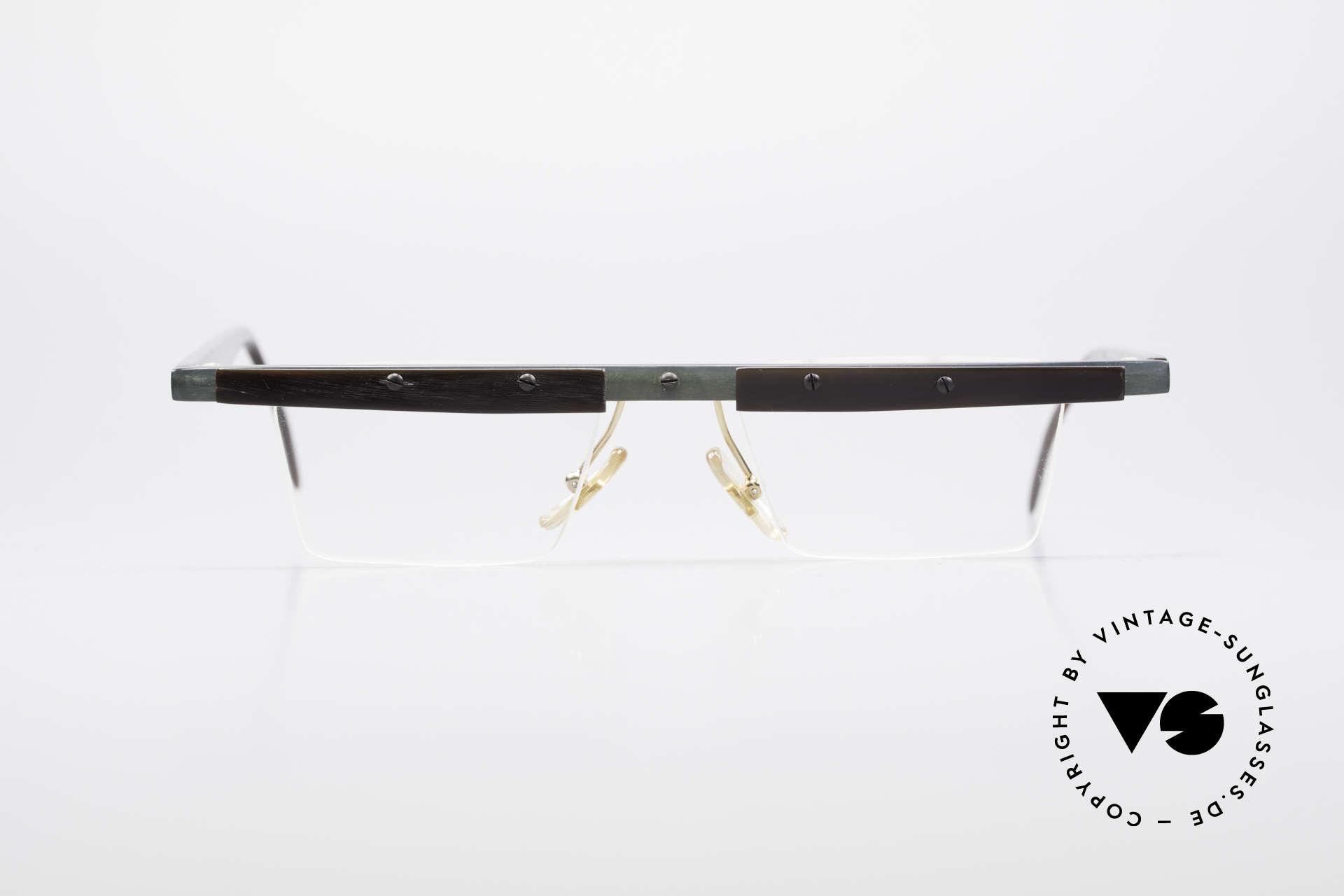 Theo Belgium Lambeta Büffelhorn Brillenfassung, in 1989 gegründet als 'ANTI MAINSTREAM' Brillenmode, Passend für Herren