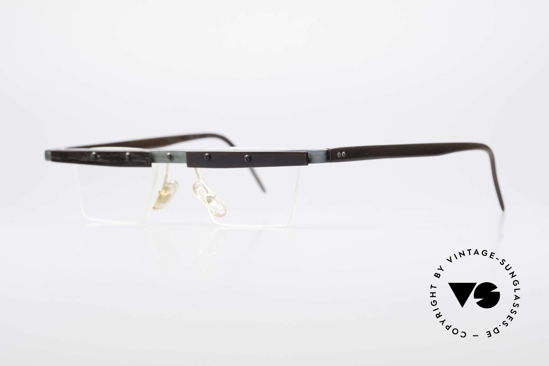 Theo Belgium Lambeta Büffelhorn Brillenfassung, damals gemacht für die 'Avantgarde' und Individualisten, Passend für Herren