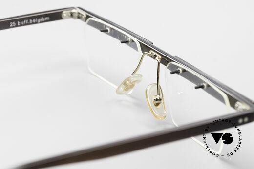 Theo Belgium Lambeta Büffelhorn Brillenfassung, Größe: large, Passend für Herren