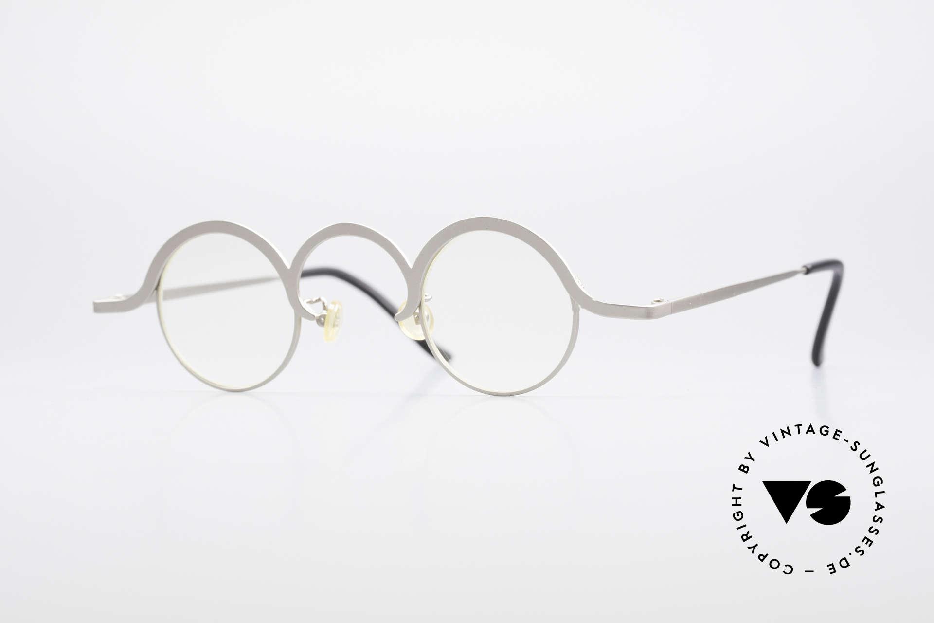 Theo Belgium Jeu Trendsetter Vintage Brille, vintage 90er Theo Belgium Brille, rundes Unisex-Mod., Passend für Herren und Damen