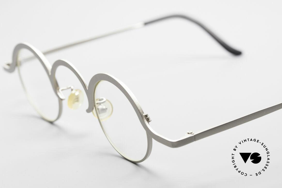 Theo Belgium Jeu Trendsetter Vintage Brille, wirklich außergewöhnliche Fassung in Top-Qualität!, Passend für Herren und Damen
