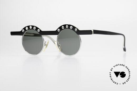 Theo Belgium Revoir Runde Strass Sonnenbrille Details