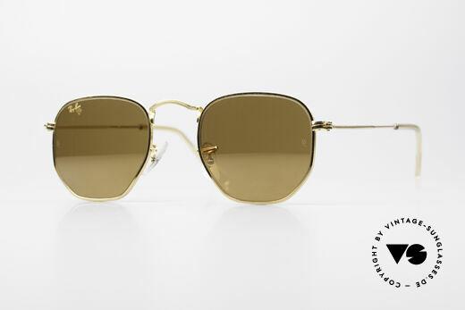 Ray Ban Classic Style III Diamond Hard Gold Verspiegelt Details