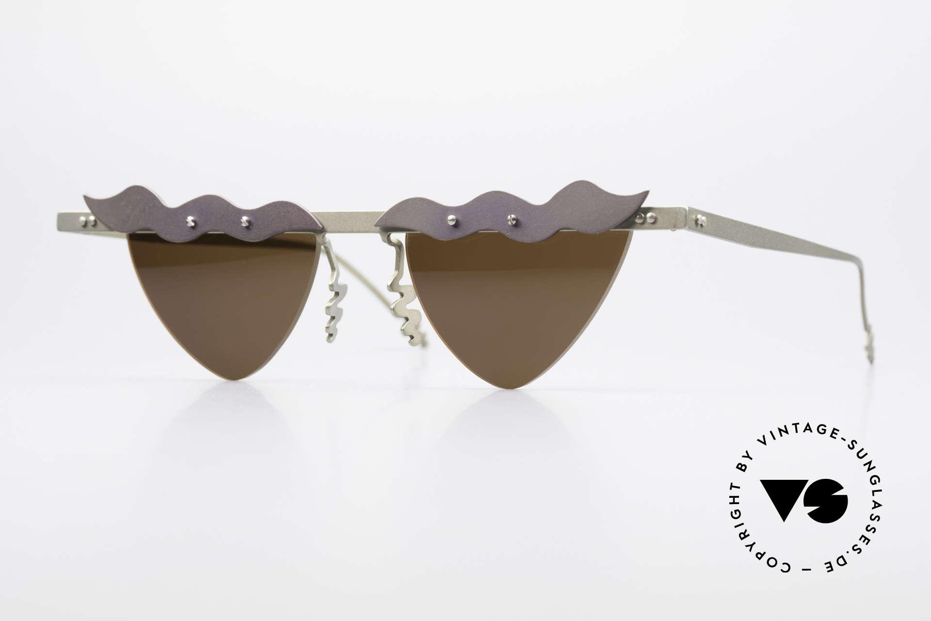 Theo Belgium Tita II C10 Herzförmige Sonnengläser, Theo Belgium: die eigenwilligste Brillenmarke, weltweit, Passend für Damen