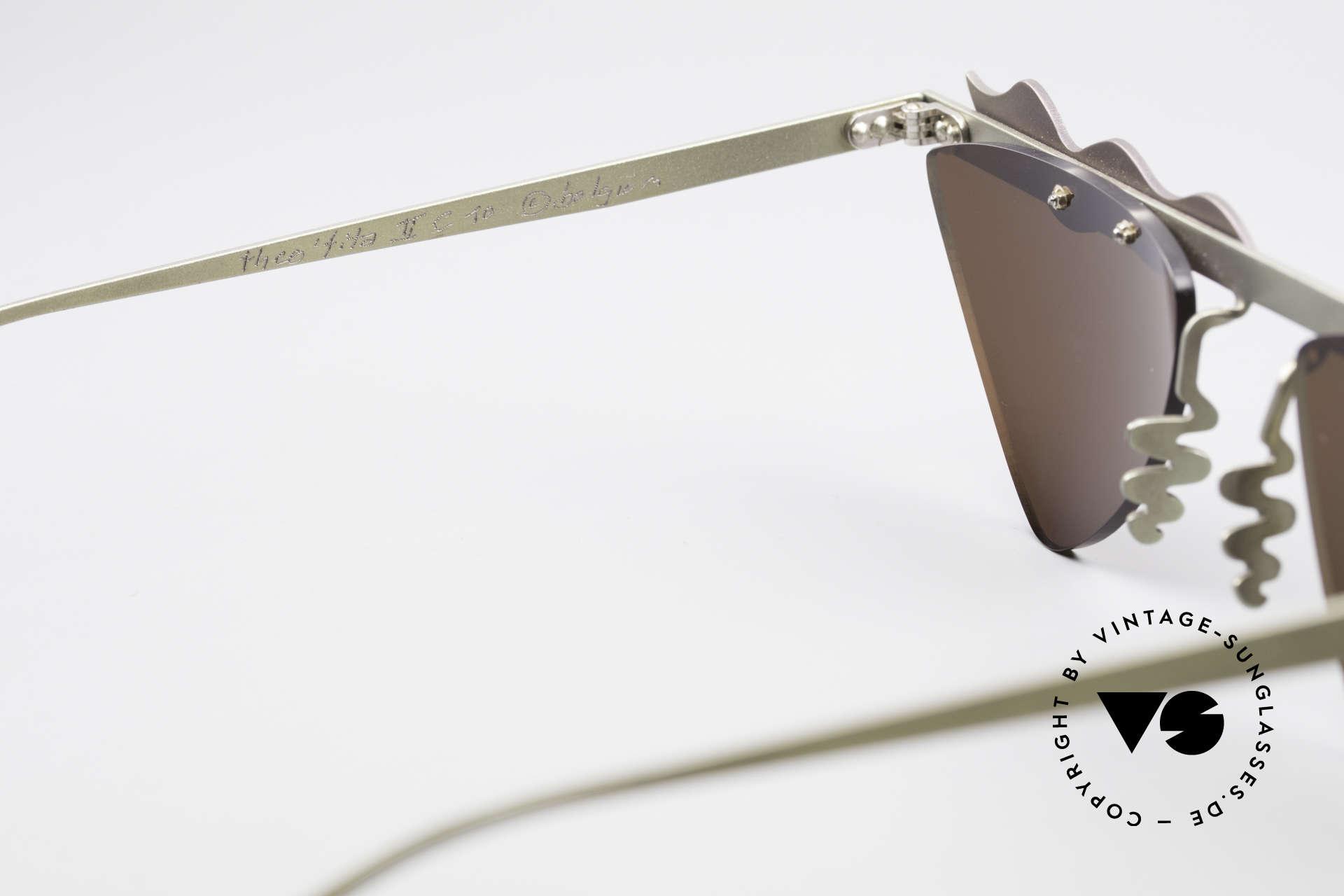 Theo Belgium Tita II C10 Herzförmige Sonnengläser, Größe: extra large, Passend für Damen