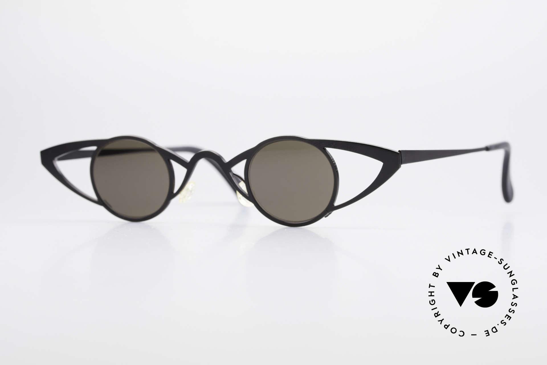Theo Belgium Saturnus Runde Designer Sonnenbrille, Theo Belgium: die eigenwilligste Brillenmarke, weltweit, Passend für Damen