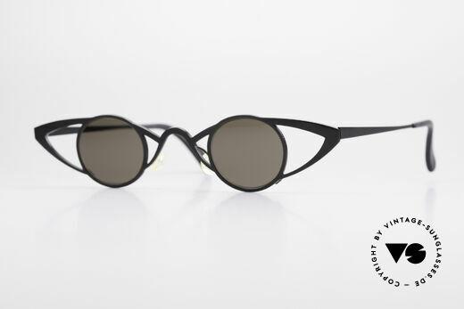 Theo Belgium Saturnus Runde Designer Sonnenbrille Details