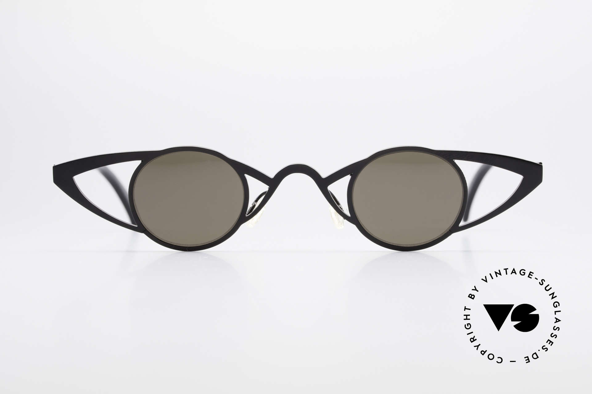 Theo Belgium Saturnus Runde Designer Sonnenbrille, 1989 gegründet als GEGENPOL zum üblich 'Mainstream', Passend für Damen