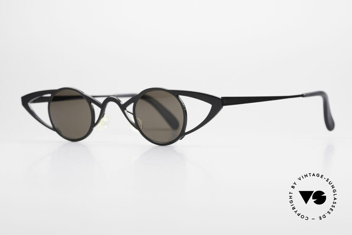 Theo Belgium Saturnus Runde Designer Sonnenbrille, damals gemacht für die 'Avantgarde' und Individualisten, Passend für Damen