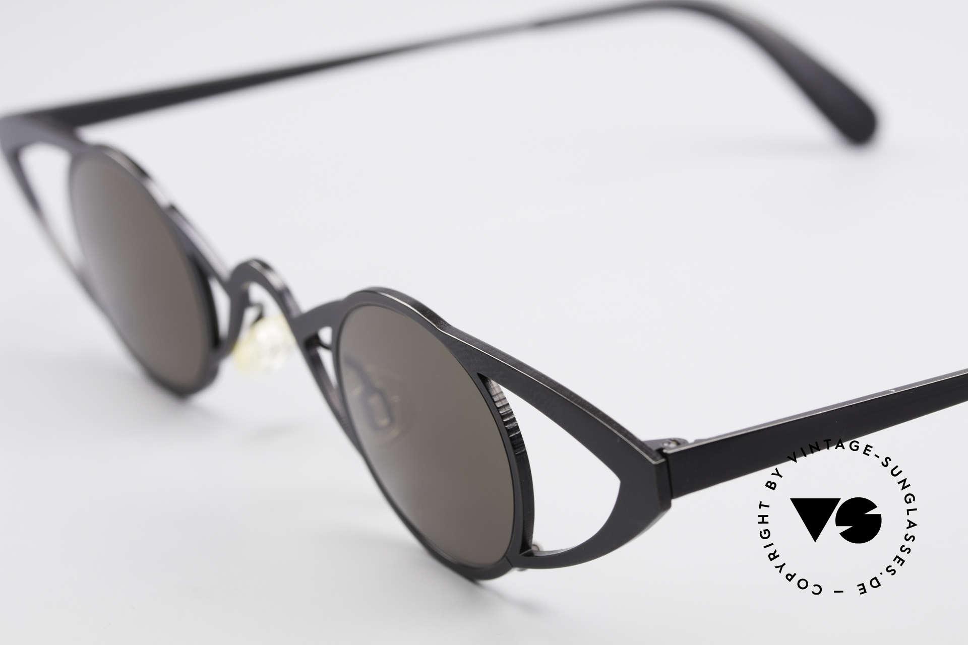 Theo Belgium Saturnus Runde Designer Sonnenbrille, runde Gläser in einem spektakulären; BREITEN Rahmen, Passend für Damen