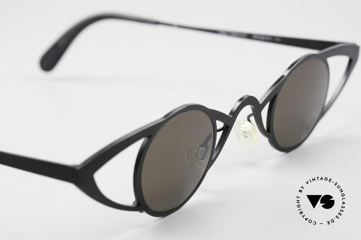 Theo Belgium Saturnus Runde Designer Sonnenbrille, ungetragenes Theo-Einzelstück für die, die sich trauen!, Passend für Damen