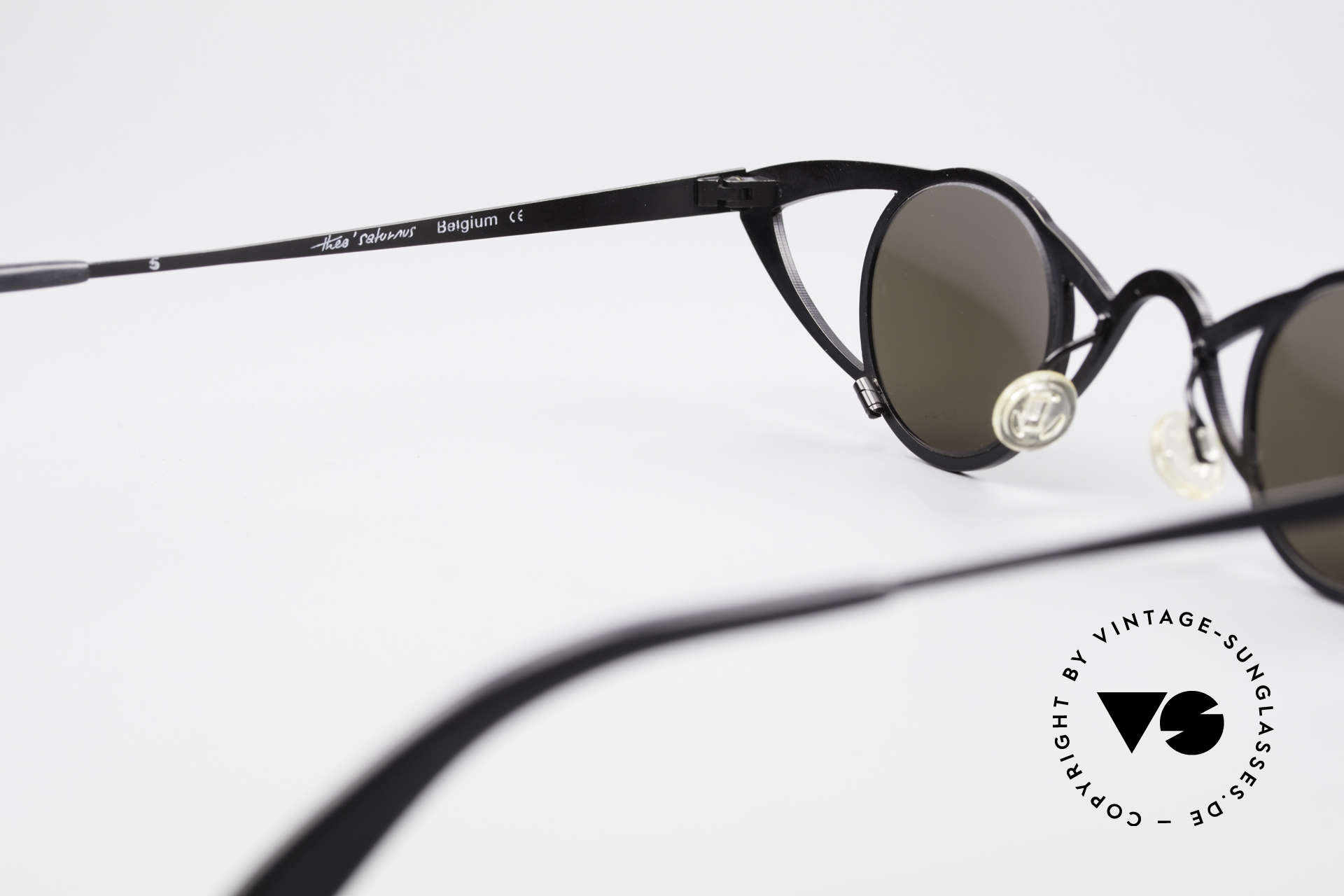 Theo Belgium Saturnus Runde Designer Sonnenbrille, sozusagen: VINTAGE Sonnenbrille mit Symbol-Charakter, Passend für Damen