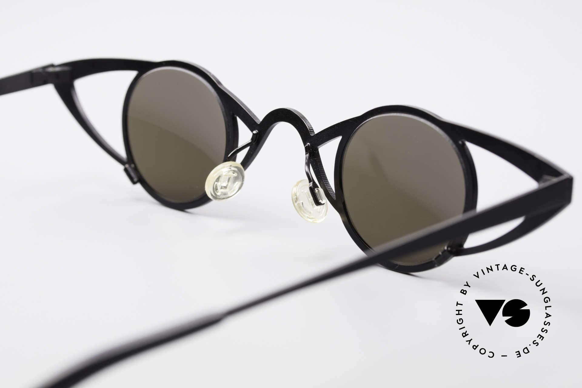 Theo Belgium Saturnus Runde Designer Sonnenbrille, Größe: large, Passend für Damen