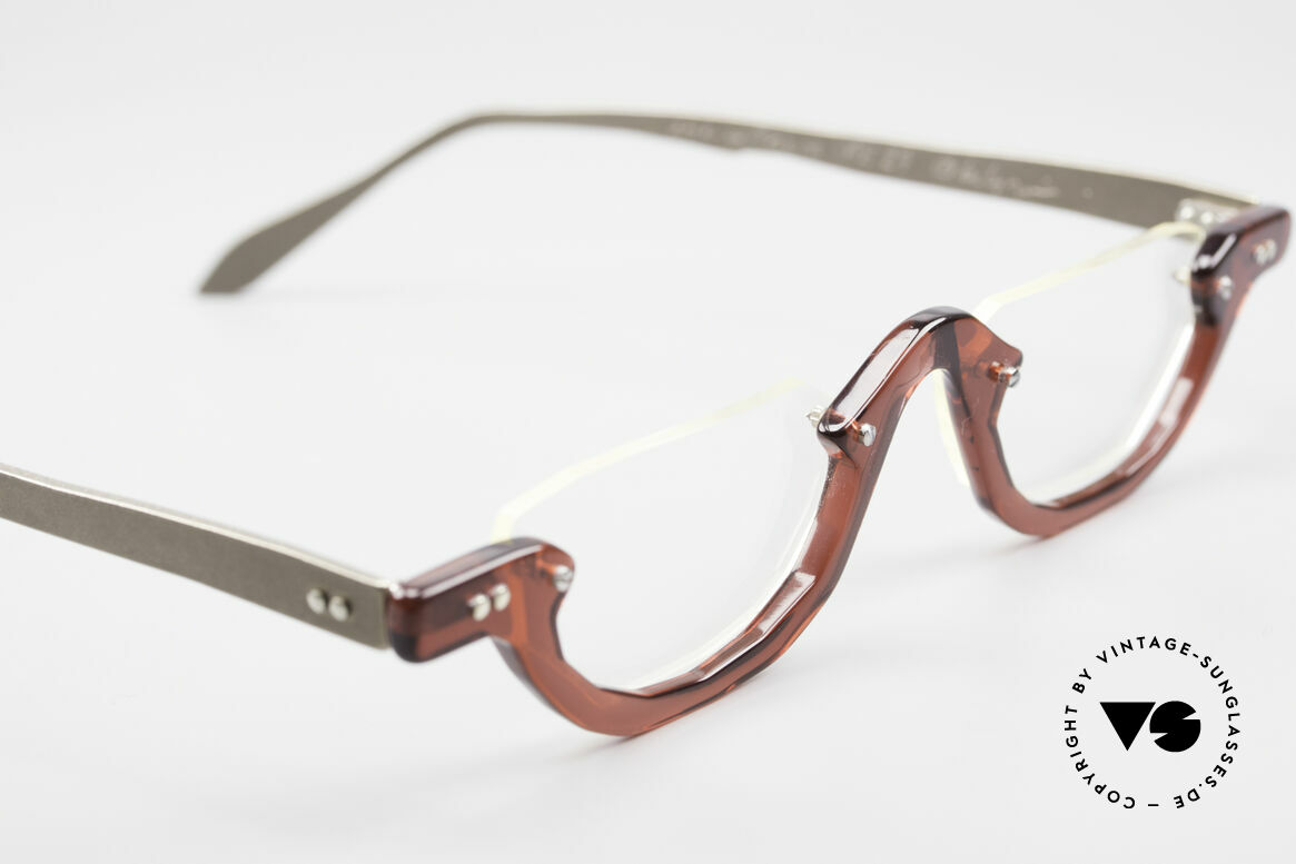 Theo Belgium Eye-Witness AE27 Crazy Vintage Lesebrille, Gläser sind z.B mit kleinen Schrauben am Rahmen fixiert, Passend für Herren und Damen