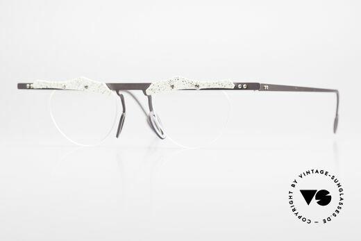 Theo Belgium Tita VII B4 Titanium Fassung mit Leder Details