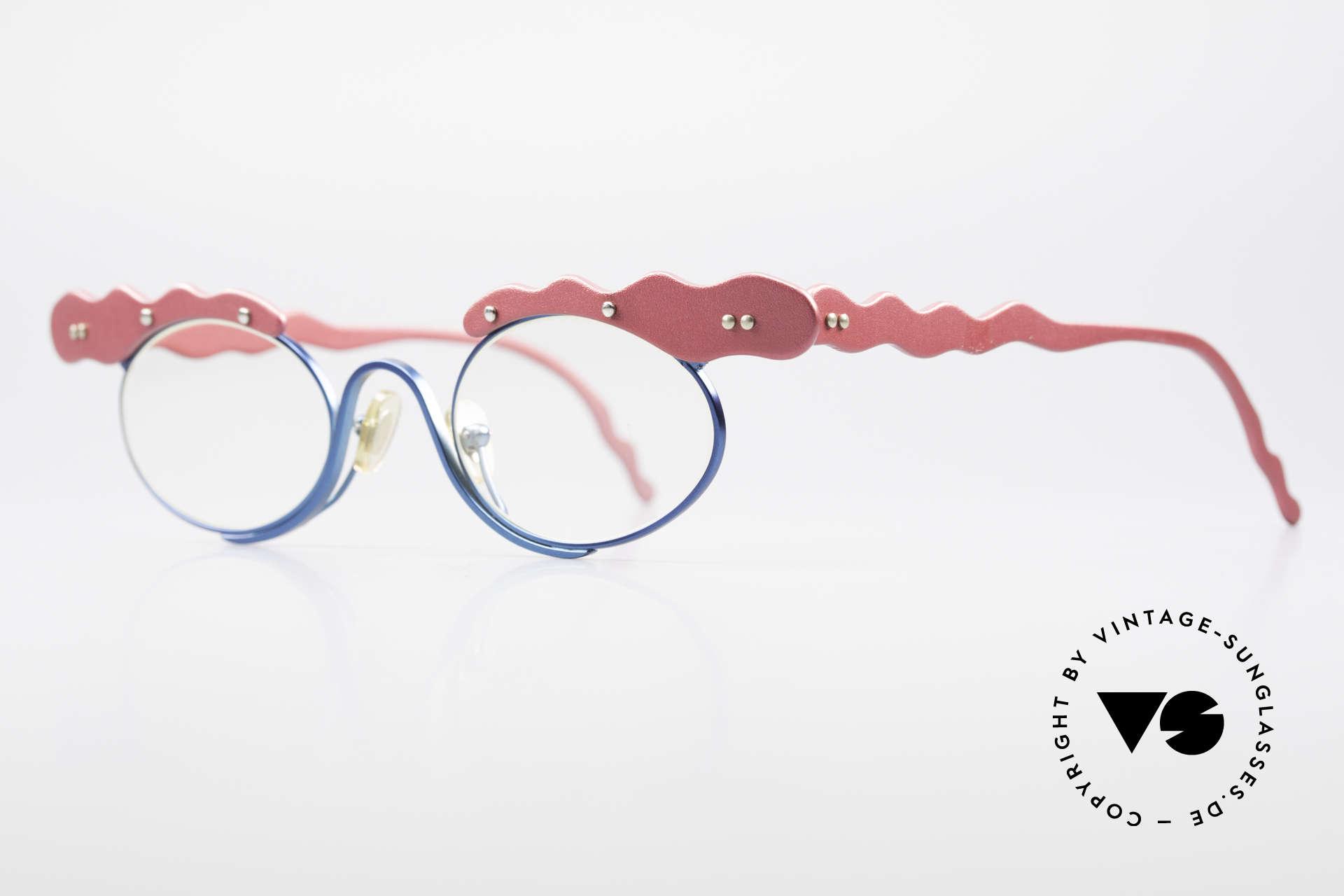 Theo Belgium These Verrückte Vintage Brille, gemacht für die 'Avantgarde' und für Individualisten, Passend für Damen