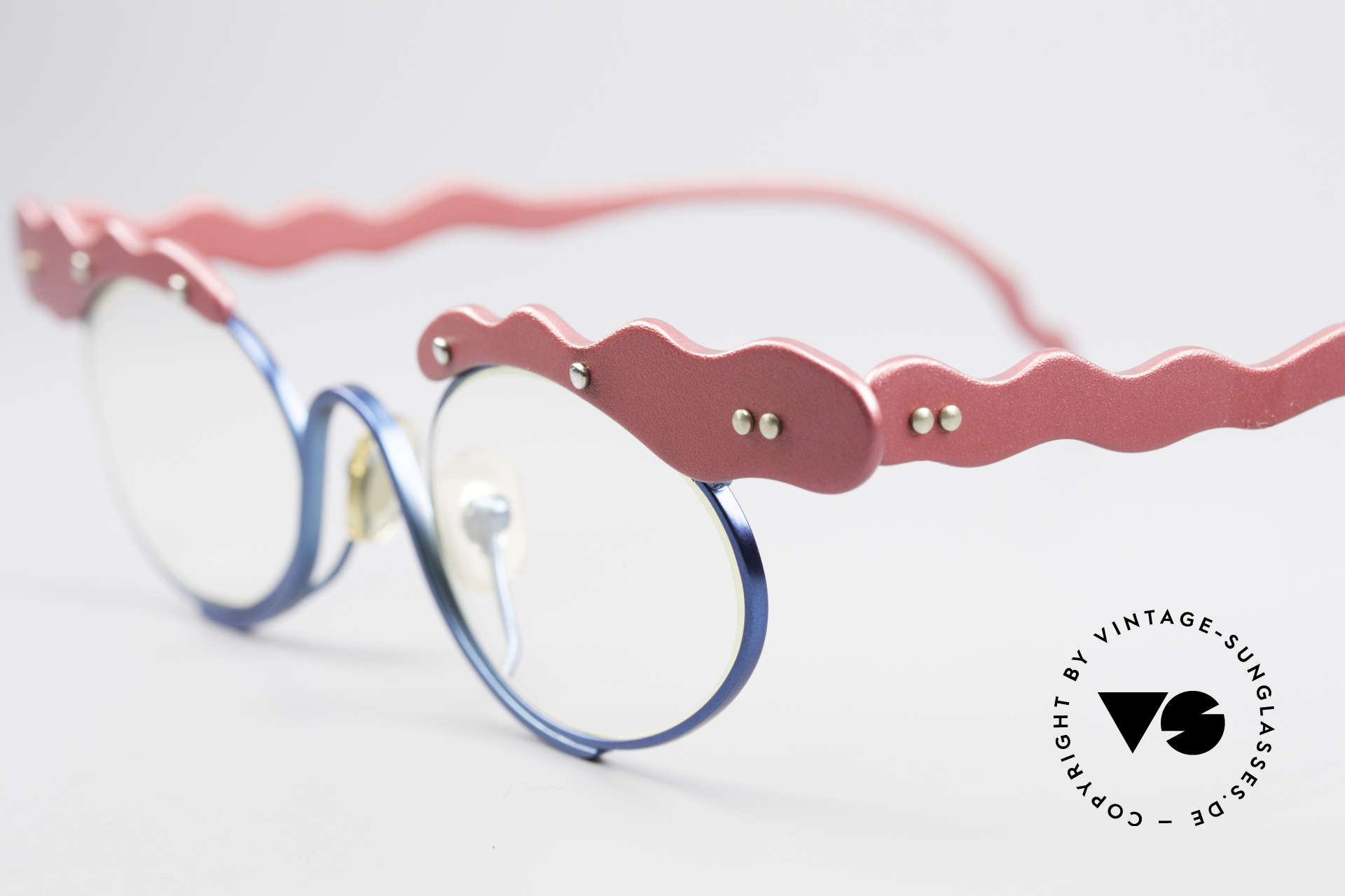 Theo Belgium These Verrückte Vintage Brille, wirklich außergewöhnliche Fassung; ein Kunstobjekt, Passend für Damen