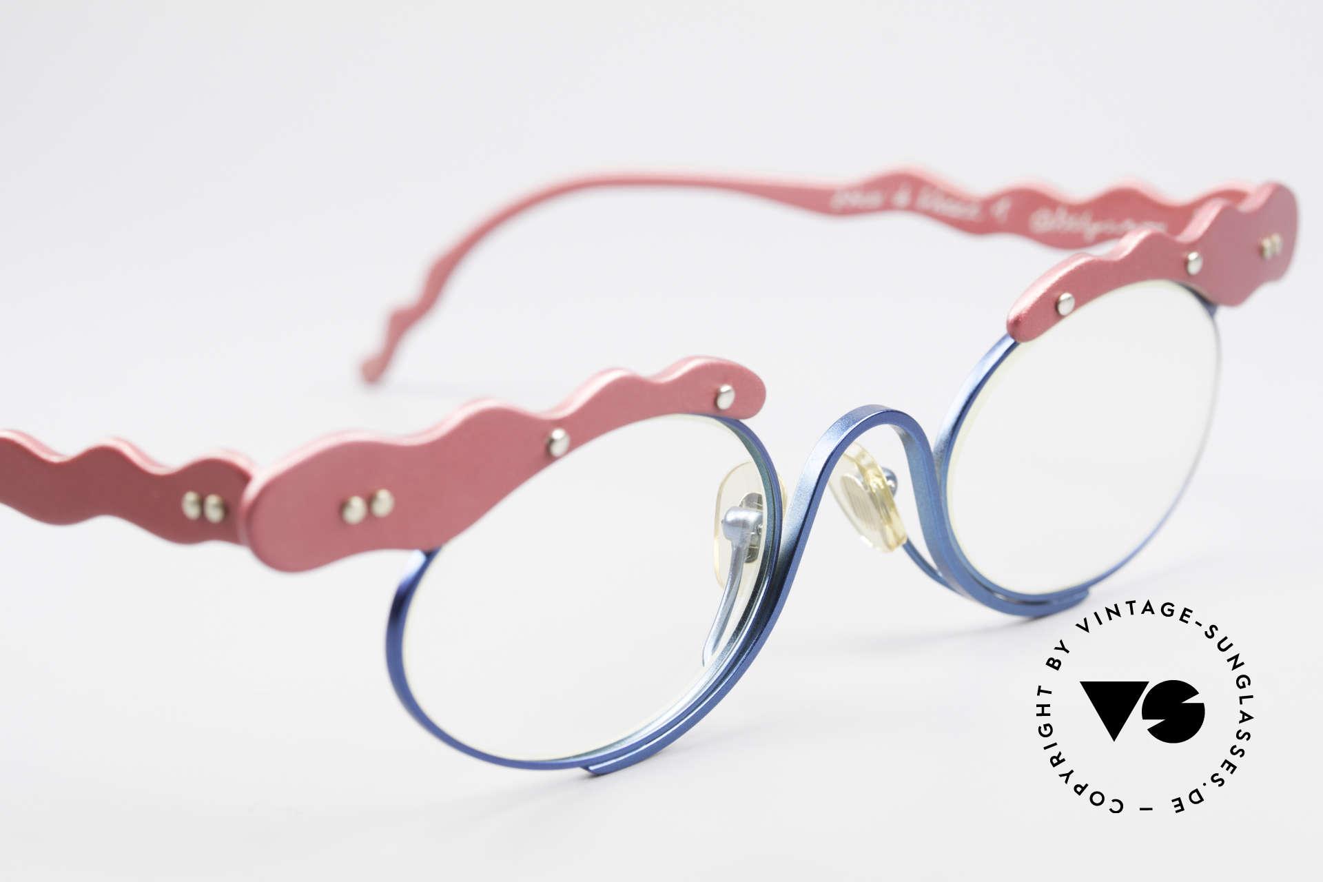 Theo Belgium These Verrückte Vintage Brille, ungetragenes Theo-Exemplar für die, die sich trauen, Passend für Damen