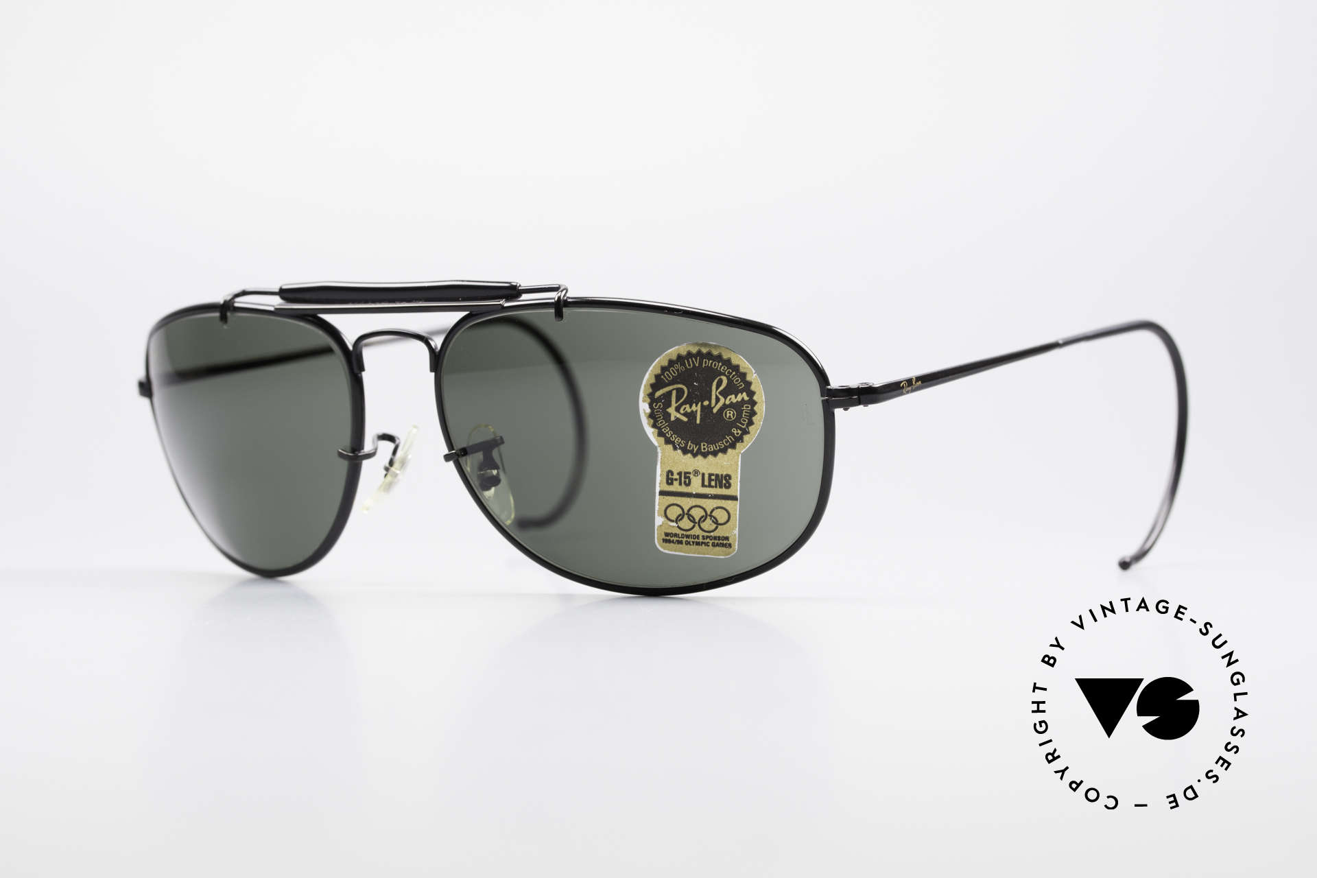 Ray Ban Sport Metal 1992 Olympic Series B&L USA, vintage RAY-BAN Sonnenbrille OLYMPIC GAMES 1992, Passend für Herren