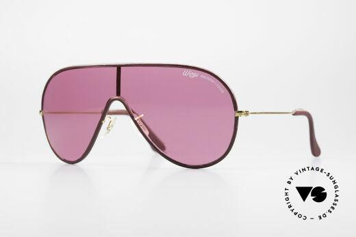 Bausch & Lomb Wings Pinke Leder Sonnenbrille Details
