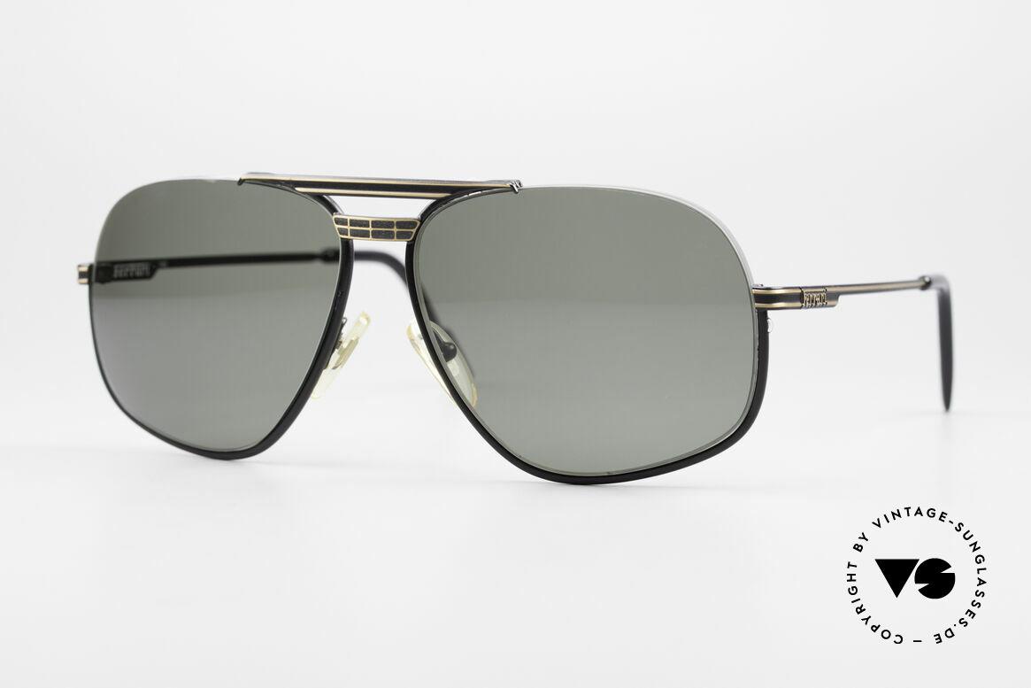 Ferrari F4 - L Rennfahrer Sonnenbrille 80er, luxuriöse Ferrari Designersonnenbrille von ca. 1989, Passend für Herren