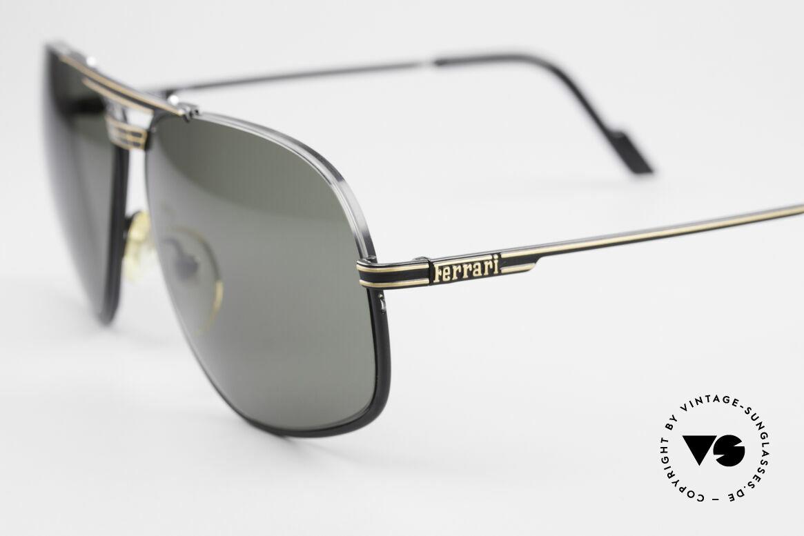 Ferrari F4 - L Rennfahrer Sonnenbrille 80er, ungetragen (wie alle unsere vintage Ferrari Brillen), Passend für Herren