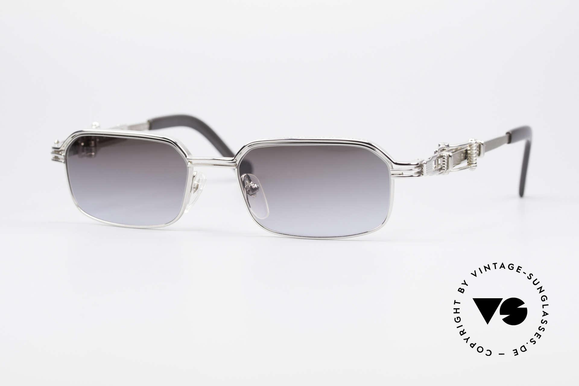 Jean Paul Gaultier 56-0002 Brille mit Gürtelschnalle, vintage Jean Paul GAULTIER Sonnenbrille von 1996/97, Passend für Herren