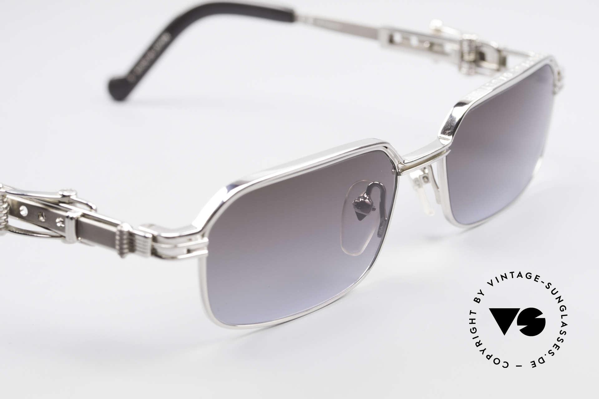 Jean Paul Gaultier 56-0002 Brille mit Gürtelschnalle, KEINE Retrobrille, sondern ein über 20J. altes ORIGINAL, Passend für Herren