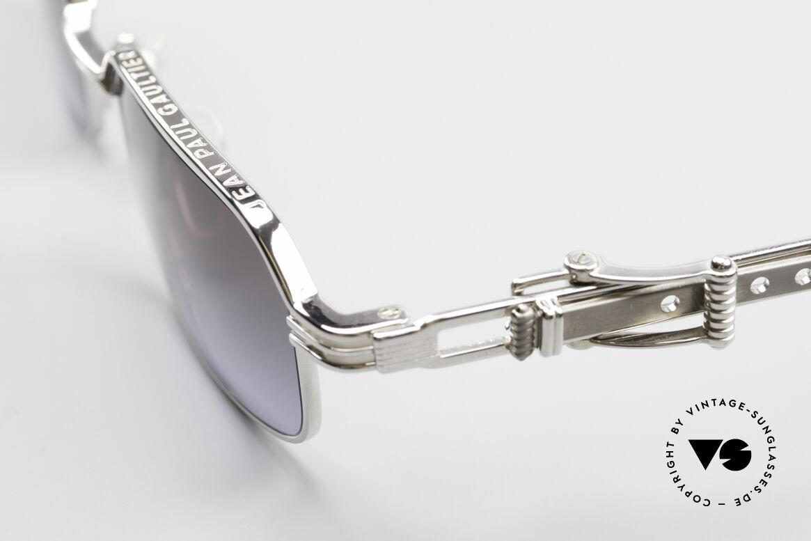 Jean Paul Gaultier 56-0002 Brille mit Gürtelschnalle, ungetragenes Designerstück: kostbar, selten und begehrt, Passend für Herren