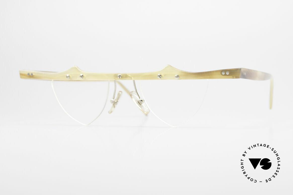 Theo Belgium Eta 90er Büffelhorn Herzbrille, Theo Belgium: die eigenwilligste Brillenmarke, weltweit, Passend für Damen